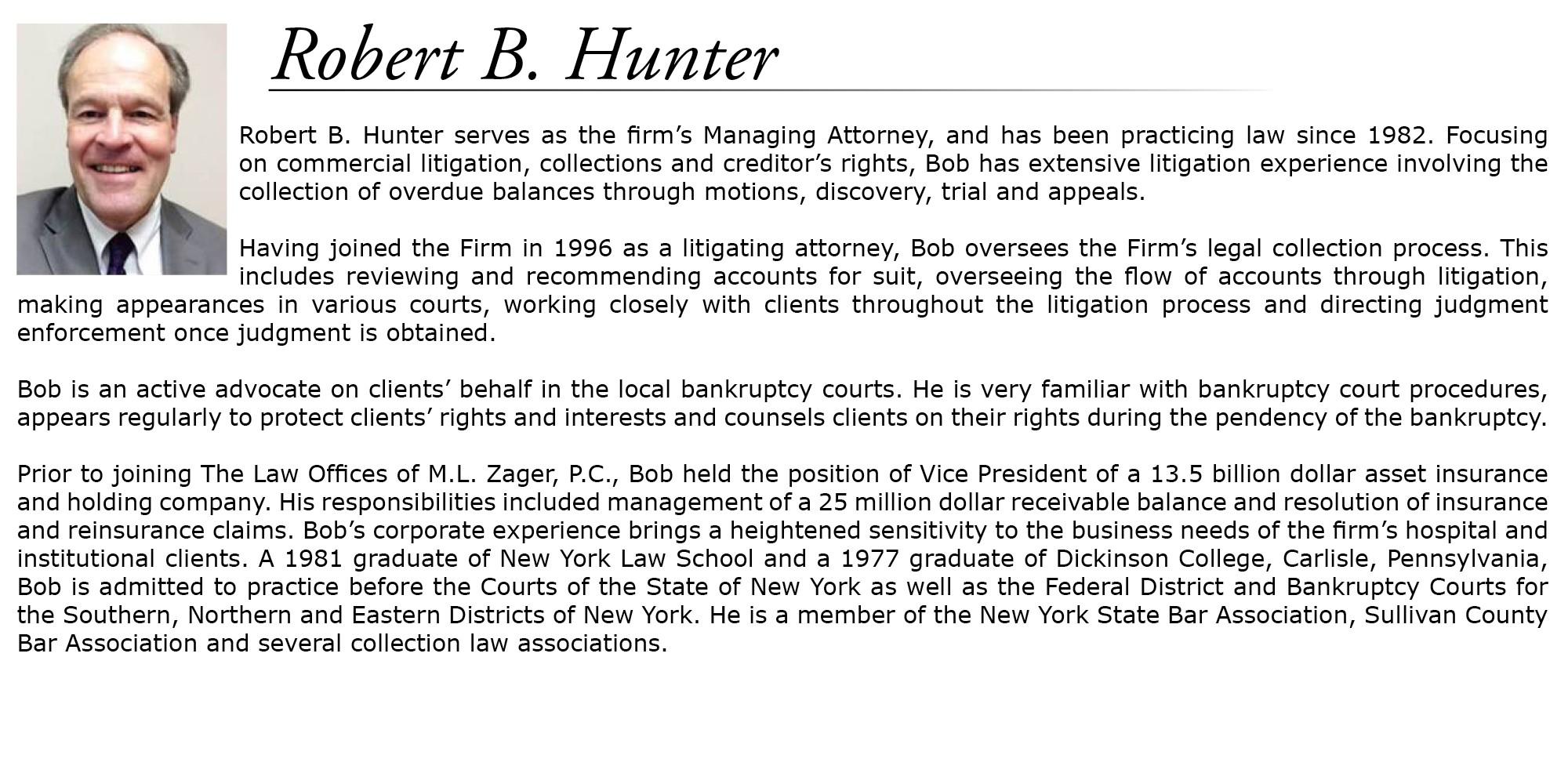Robert B Hunter